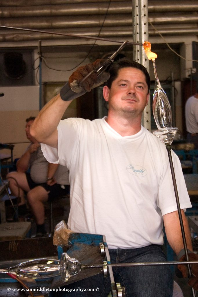 Glass making at Rogaska Crystal
