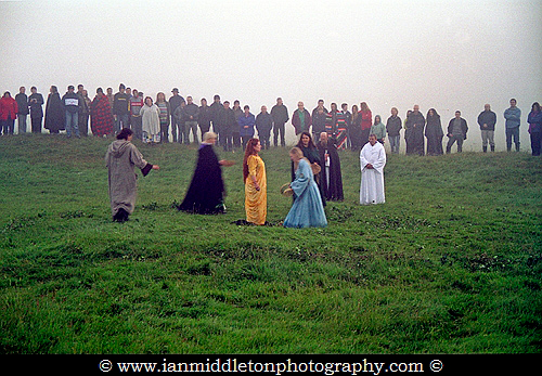 A re-enactment of the Celebration of the Sunrise at Tara on the Summer Solstice day