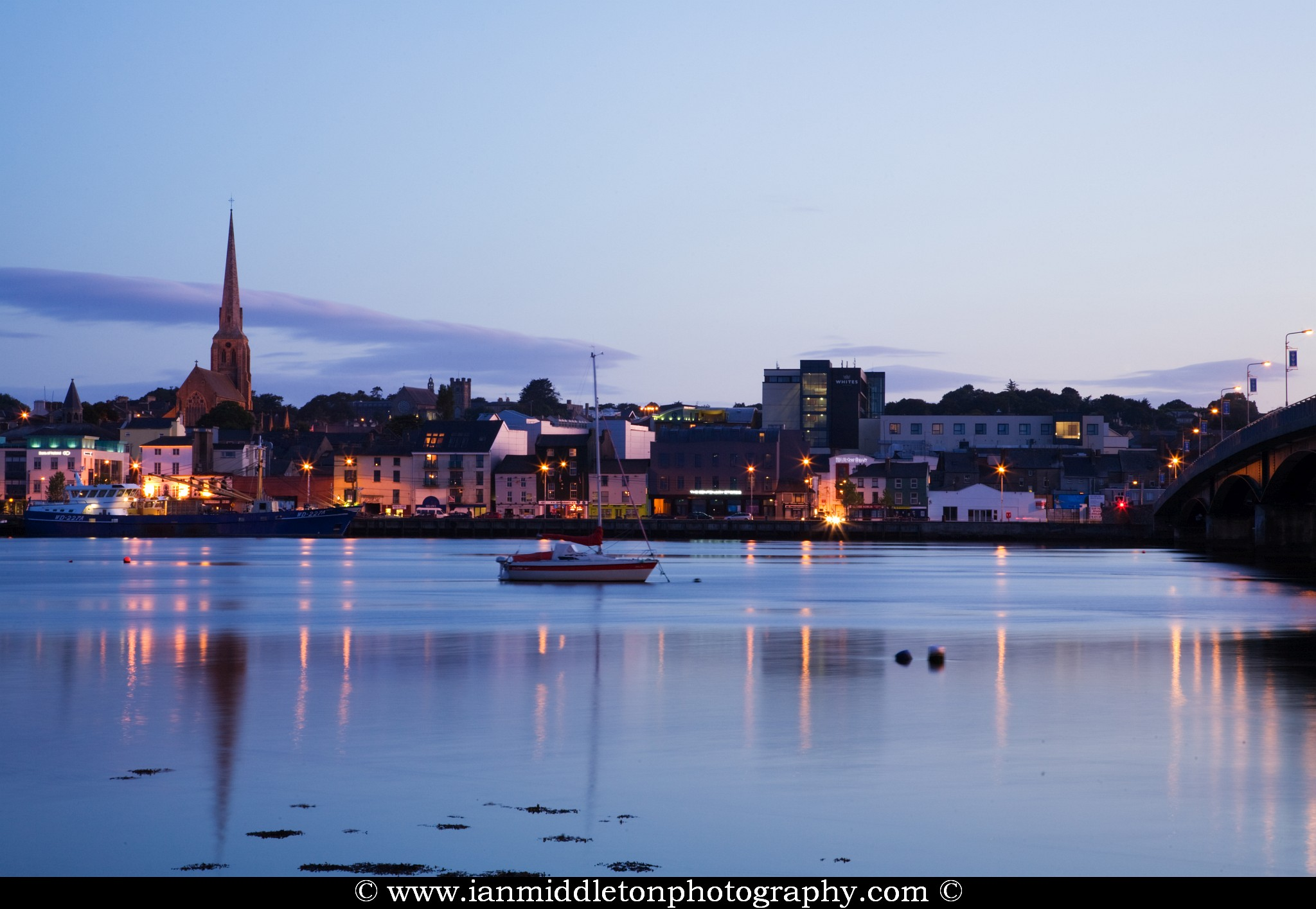 Wexford Harbour at sundown, County Wexford, Republic of Ireland