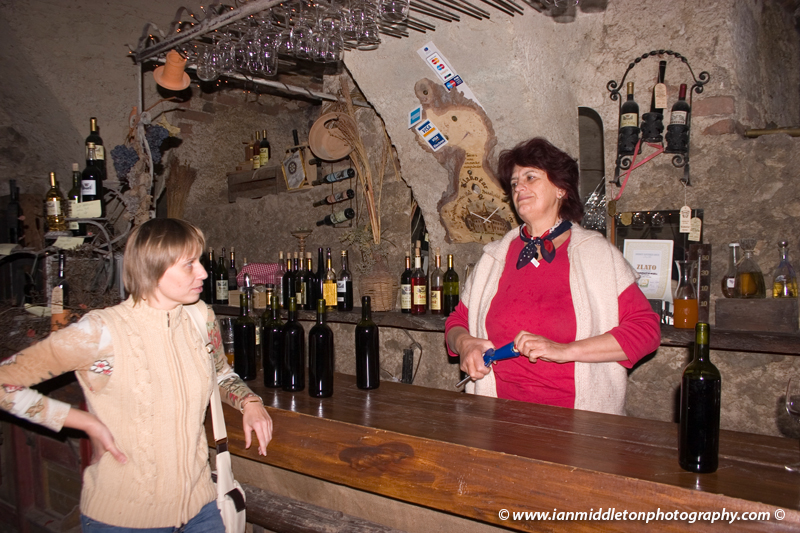 Inside the wine cellar at Bizeljsko castle, Slovenia.