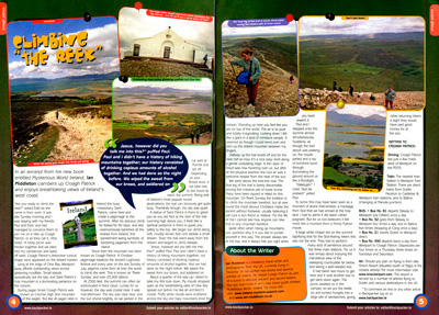 Climbing the reek - article for backpacker magazine by Ian Middleton