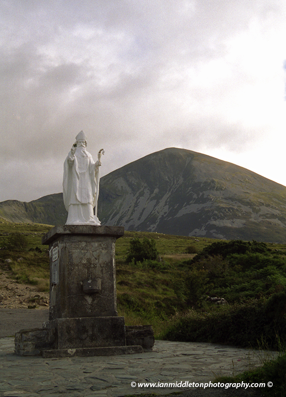 Saint Patrick statue at Croagh Patrick