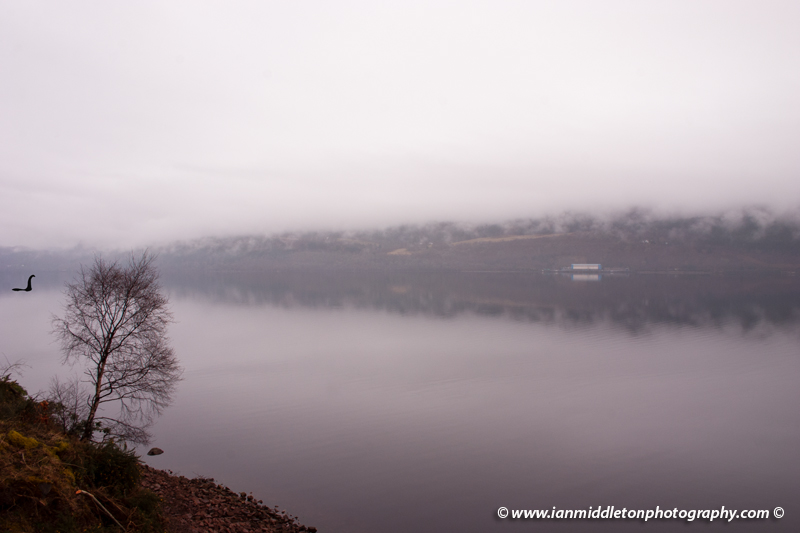 Rainy Morning at Loch Ness in Scotland.
