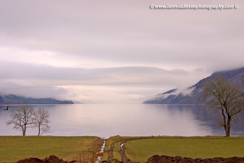 Morning over Loch Ness in Scotland.