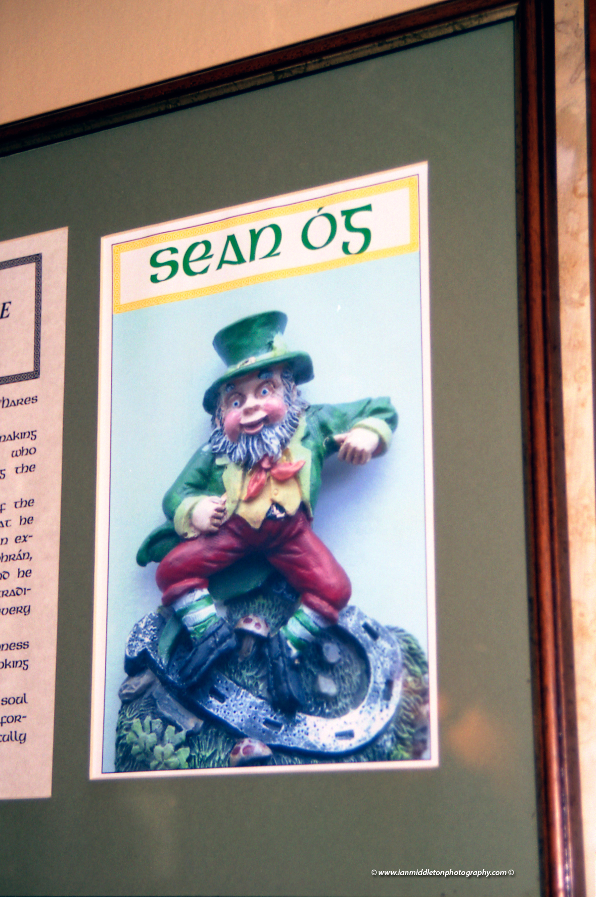 Sean Og the leprechaun in O hare pub in Carlingford. County Louth, Ireland.