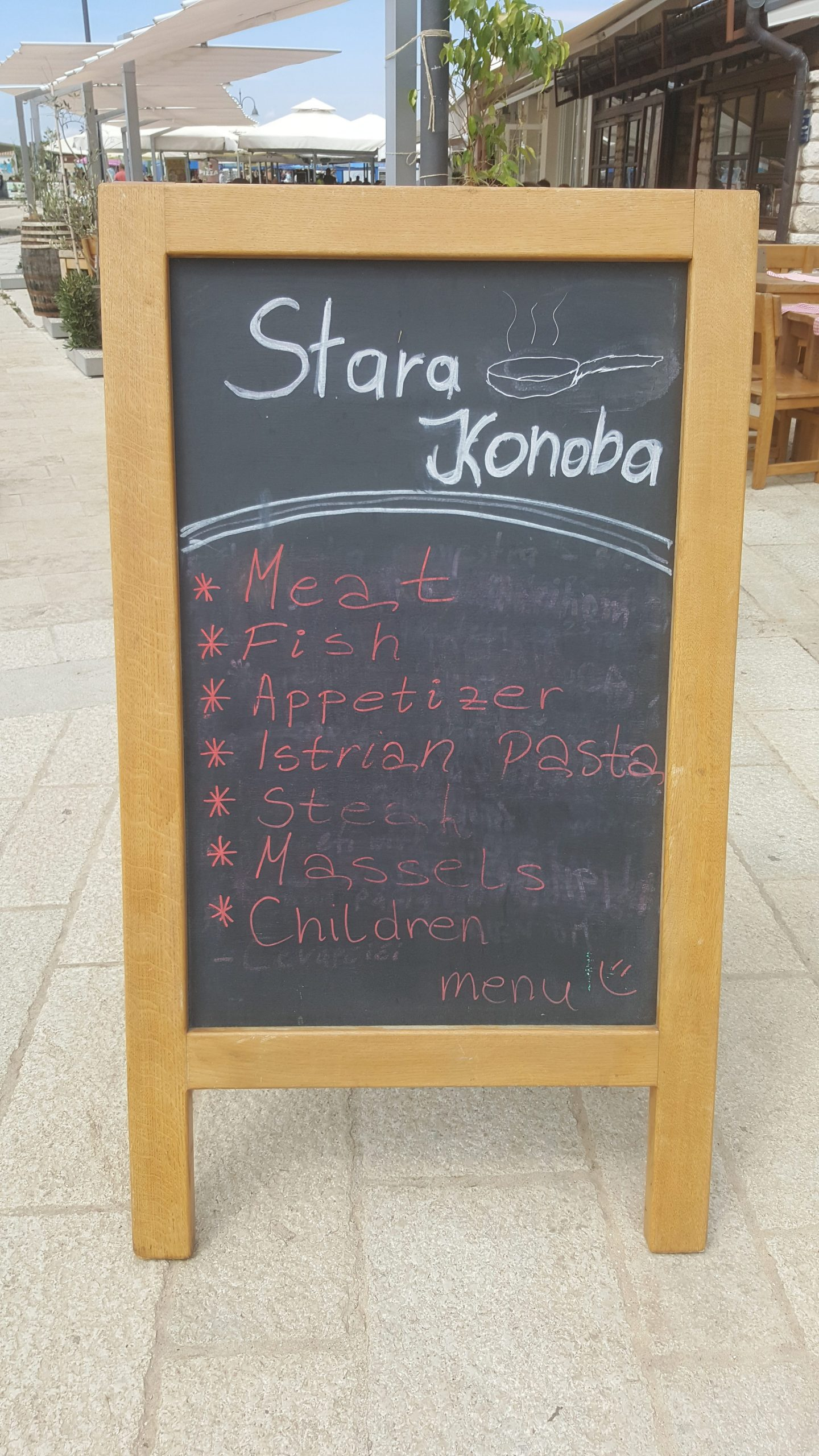 Stara Konoba, a great place for seafood, despite having children on the menu......