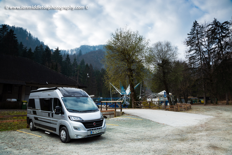 Car park at Zaka campsite in Bled