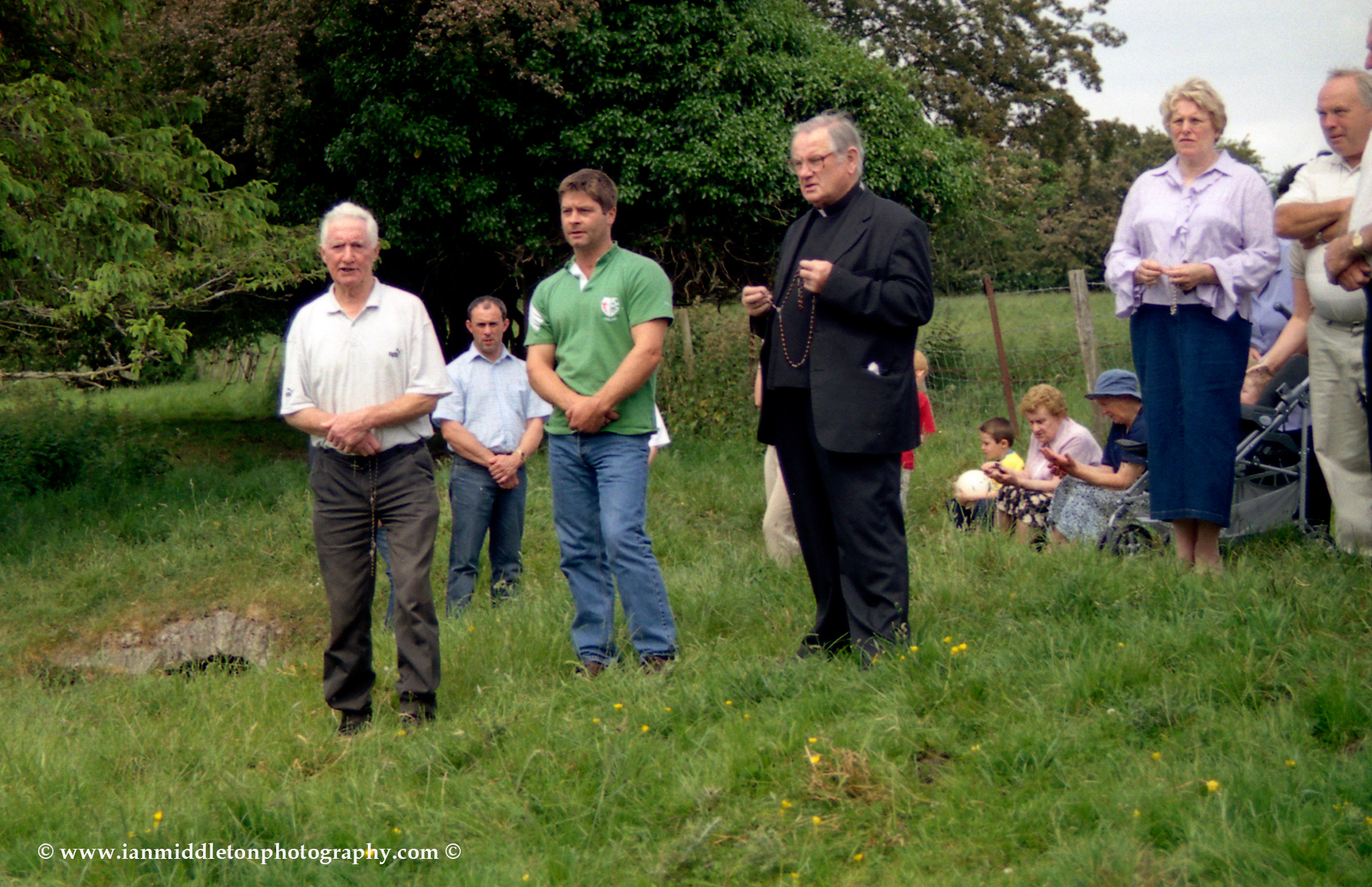 The annual Rosary at Trinity Well, in the grounds of Newberry House, near the village of Carbury, County Kildare, Ireland.