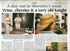 Article on the west of Slovenia by Ian Middleton