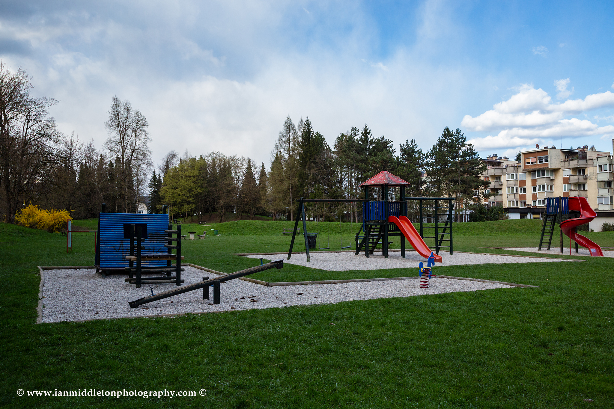 In Slovenia the government has forbidden the use of public playgrounds and all schools are closed.