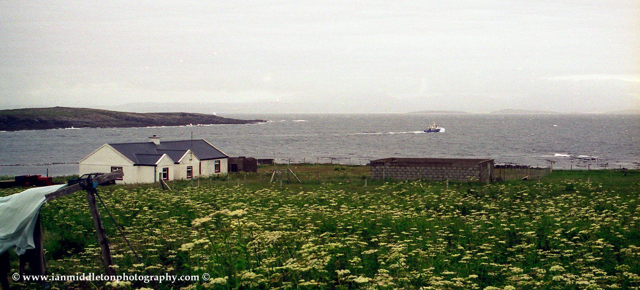 Tory Island ferry leaving, County Donegal, Ireland