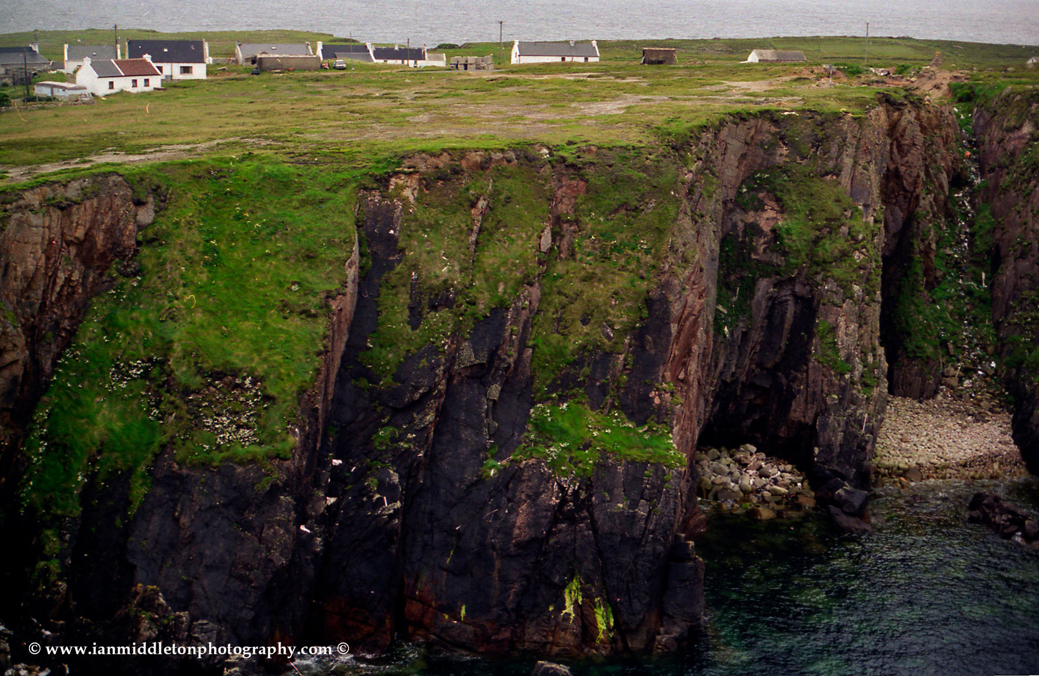 The soaring cliff of Eastern Tory Island, County Donegal, Ireland.