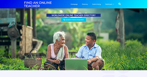 website design example - Find and online teacher by Ian Middleton