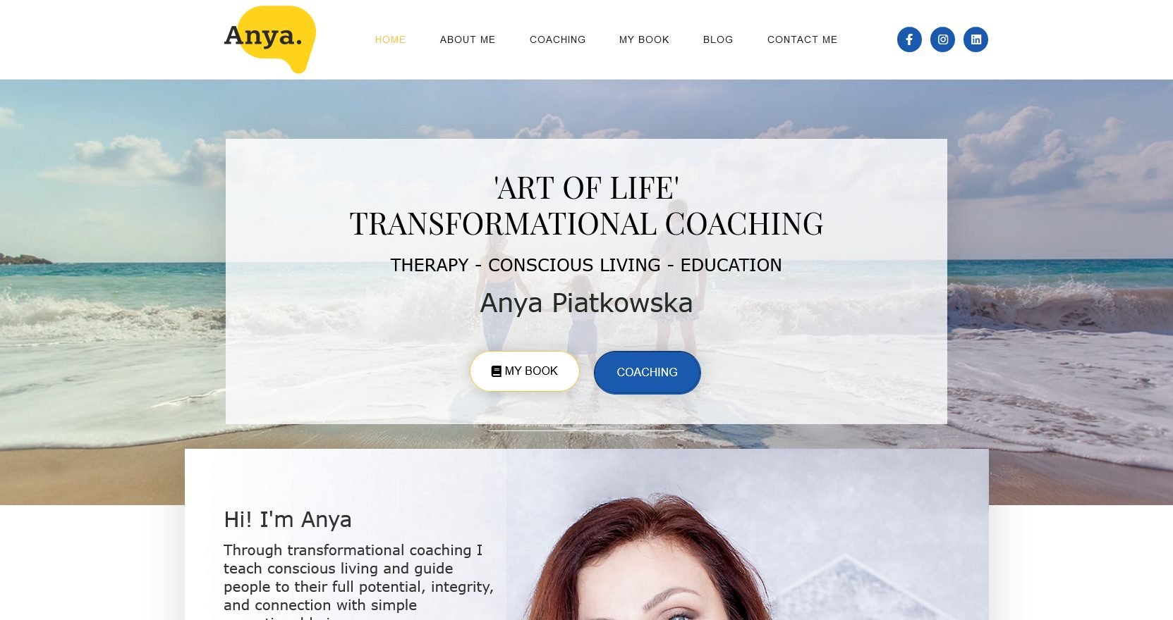 website design example - Transformational Coach website by Ian Middleton