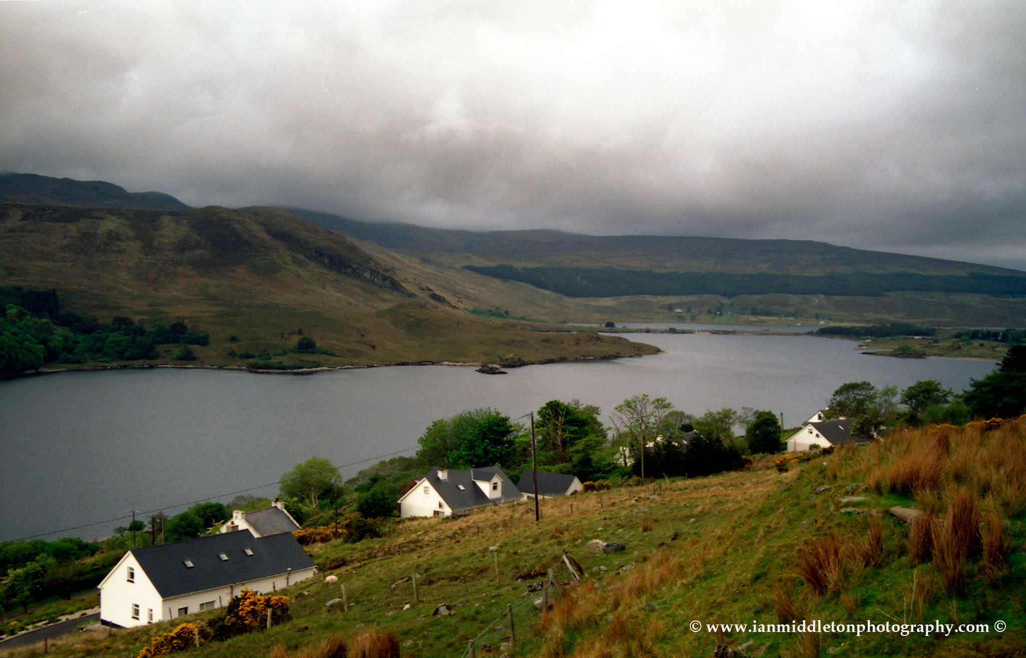 Views across the Poisoned Glen in Northern County Donegal, Ireland.